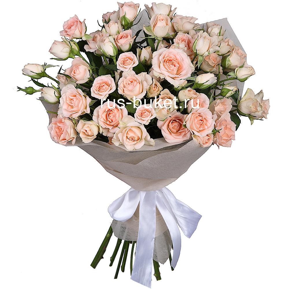 Искусственные цветы мелкие розы в букете цветов через интернет