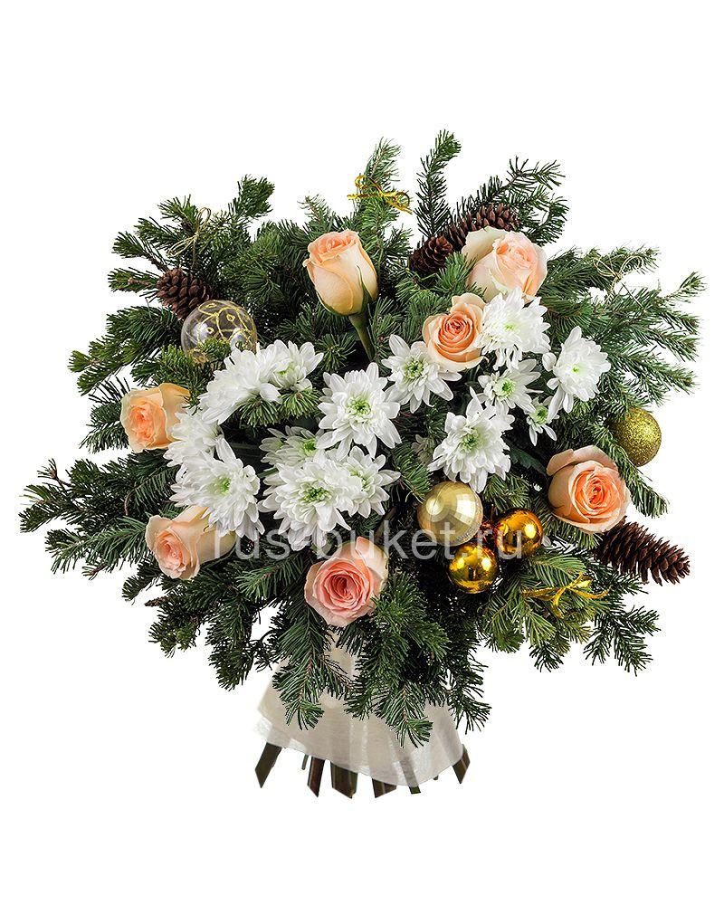 Букет цветов на новый год фото, магазин цветы на филевском бульваре