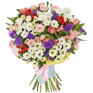 Цветы русский букет доставка цветов самара букеты гортензией синей