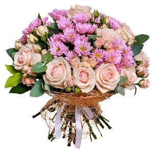 """цветы ко дню матери Букет """"С днем мамы"""""""