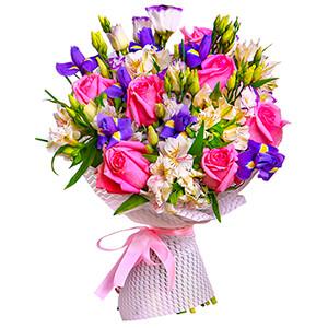 Прекрасный букет +30% цветов с доставкой в Москве