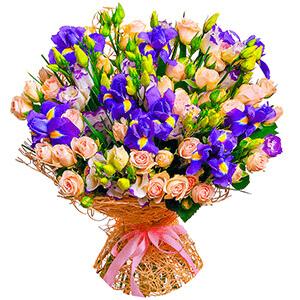 Дизайнерский букет +30% цветов с доставкой в Москве