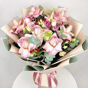 Воздушный поцелуй +30% цветов с доставкой в Москве