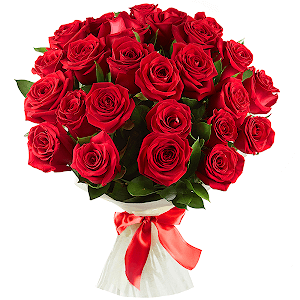 Букет из 21 красной розы с доставкой в Москве