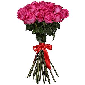 Букет из 31 розовых роз - премиум