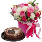 Композиция «Мисс очарование» с тортом