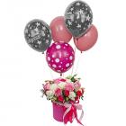Композиция «Мисс очарование» с гелиевыми шарами
