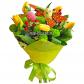 Тюльпан - 5, Хризантема кустовая - 3, Гиперикум, Статица, Бабочка декоративная, Рускус, Яйца пасхальные декоративные, Фетр