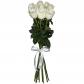 Роза белая 70см - 9, Лента